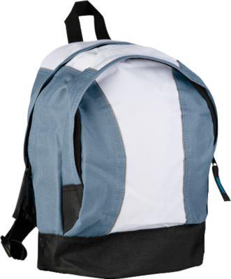 Kinderrucksack JUNIOR, grau, 600D Kunststoff, Schultergurte gepolstert & stufenlos verstellbar, Werbedruck 60 x 120 mm
