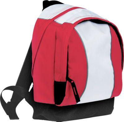 Kinderrucksack JUNIOR, rot, 600D Kunststoff, Schultergurte gepolstert & stufenlos verstellbar, Werbedruck 60 x 120 mm