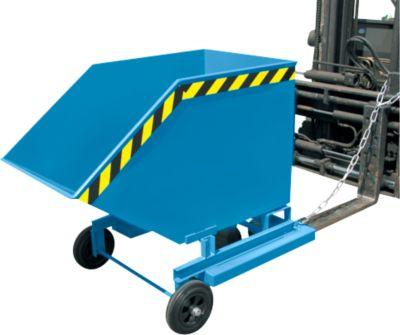Kippbehälter mit Rollen Typ KW-ET 1000, blau