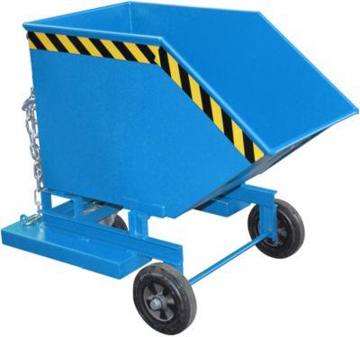 Kippbehälter mit Rollen Typ KW-ET 250, blau