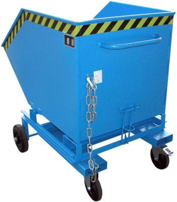 Kippbehälter mit Rollen Typ KW-ET 600, blau