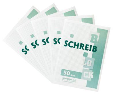 Kladblok, gerecycleerd papier, A4 formaat, 50 vellen, 5 stuks