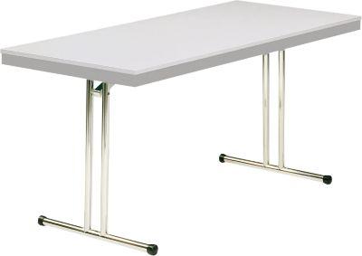 Klapptisch Modell 734, 1400 x 700 mm, grau/lichtgrau