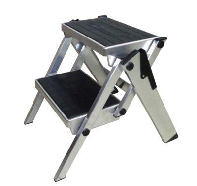 Klapptreppe, aluminium, 2 Stufen