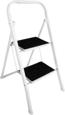Klapptritt, aus Stahl, belastbar bis 150 kg, 2 Stufen