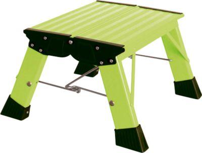 Klapptritt Treppy, 1 Stufe, grün
