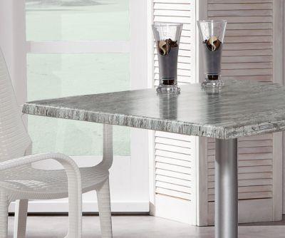 Klaptafel Maestro 80 x 80cm, zilver//Montpellier, vouwtafel 80 x 80cm