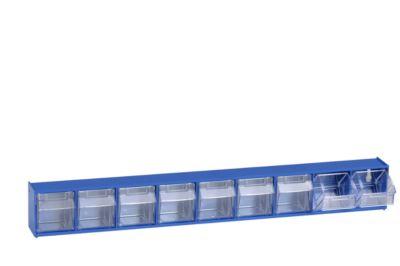 Klarsicht-Magazin, 9 Behälter, blau
