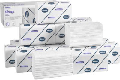KLEENEX® Essuies mains Ultra interfold, petit modèle,215 x 315 mm, ultra-blanc, 2790 feuillets