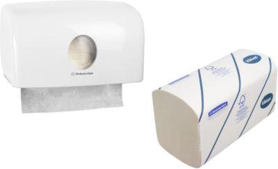 KLEENEX® ULTRA 1 VE Handtücher + GRATIS Handtuchspender AQUARIUS