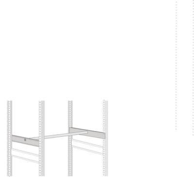 Kleiderstangen-Set, L 995 mm