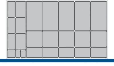 Kleinteileboxen, für Verso-Schränke/Schubladen B 1050 mm, 24-teilig