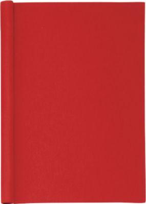 Klemmbinder, DIN A4, Leinen, mit Einband, rot