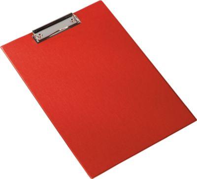 Klemmbrett, DIN A4, Kunststoff, mit Aufhängöse, rot
