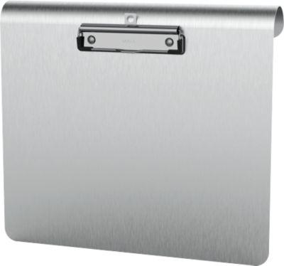 Klemmbrett Maul MAULmedic Format A4 , Klemmweite 8 mm, Aluminium, auch zum Aufhängen, quer