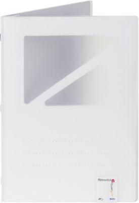Klemmmappe Biella Attraction View, magnet., A4, für ca. 25 Blatt, Hochformat, Sichtfenster, 10 Stück, weiß