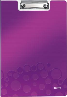 Klemplaat met omslag WOW - A4 - Paars