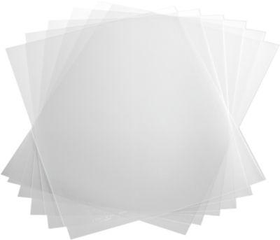 Klemrughoezen, transparant, 120 my, 50 stuks