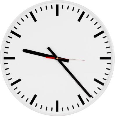 Klok met kwartsuurwerk, wijzerplaat met tijdstrepen