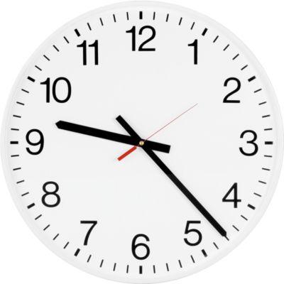 Klok voor binnen DE KLASSIEKE , zendergestuurde klok, wijzerplaat met cijfers