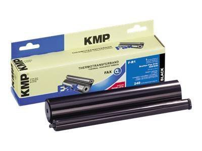KMP F-B1 - 1 - Schwarz - Farbband (Alternative zu: Brother PC300RF)