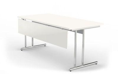 Knieraumblende Toledo, für Schreibtische ab Breite 1600 mm, B 1450 x H 300 mm, weiß