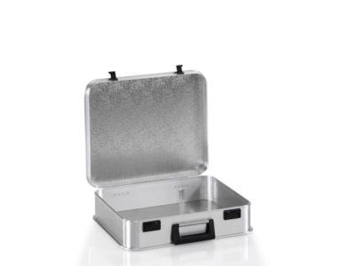 koffer van licht metaal, met cijferslot, afm. inw. h 115 mm