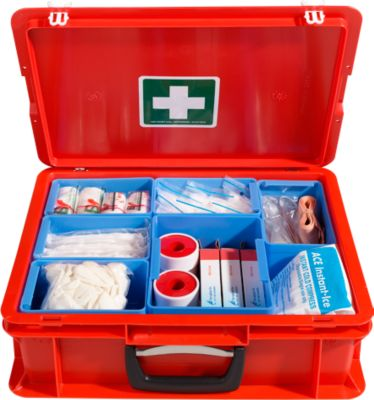 Koffer van polypropeen, rood