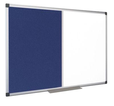 Kombitafel MAYA Filzblau/Whiteboard, magnetisch, 1500 x 1200 mm