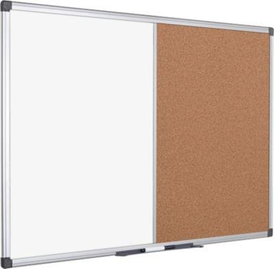 Kombitafel MAYA, Pinn- und Whiteboardtafel, 600 x 450 mm