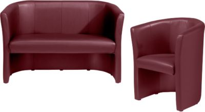 Komplettangebot Club Sessel + Zweisitzer, chilirot