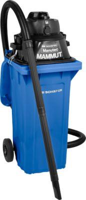 Komplettset Nass-Trockensauger, mit Werkzeugsteckdose, inkl. Großmülltonne für 120 l, blau