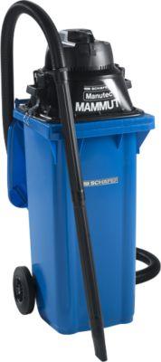 Komplettset Nass-Trockensauger, ohne Werkzeugsteckdose, inkl. Großmülltonne für 120 l, blau