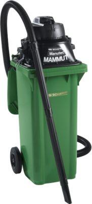 Komplettset Nass-Trockensauger, ohne Werkzeugsteckdose, inkl. Großmülltonne für 120 l, grün