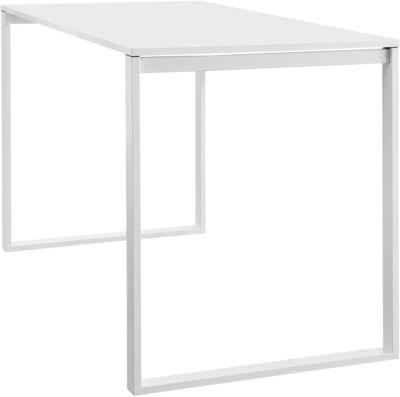 Konferenz-Stehtisch Squart, B 1600 x T 900 x H 1120 mm, weiß/weiß