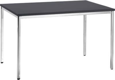 Konferenztisch, 1200 x 800 mm, schwarz