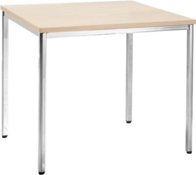 Konferenztisch, 800 x 800 mm, Ahorn-Dekor