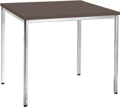 Konferenztisch, 800 x 800 mm, Wenge-Dekor