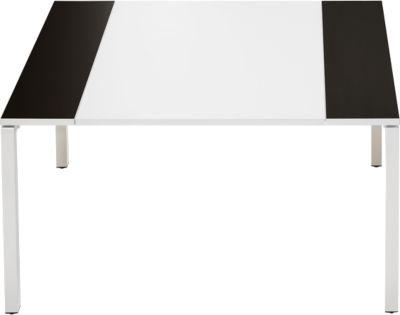 Konferenztisch Color, B 1500 mm, schwarz/weiß