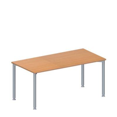 Konferenztisch MODENA FLEX, höhenverstellbar, rechteckig, 4-Fuß-Rundrohr, B 1600 x T 800 mm, ohne Anschlussfeld, Buche-Dekor