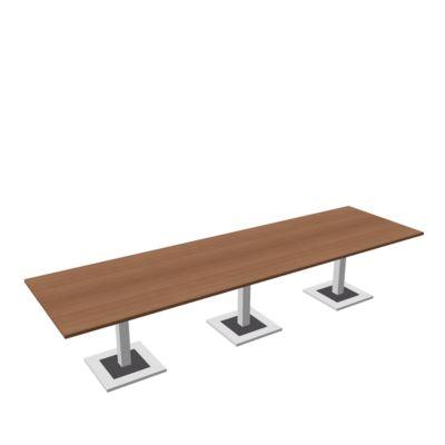 Konferenztisch Quandos 3teilig, B 3500 x T 1000 mm, Kirsche-Romana