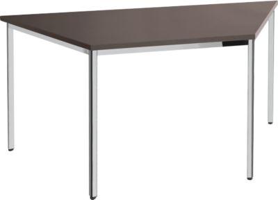 Konferenztisch, Trapez 1600 x 800 mm, Wenge-Dekor