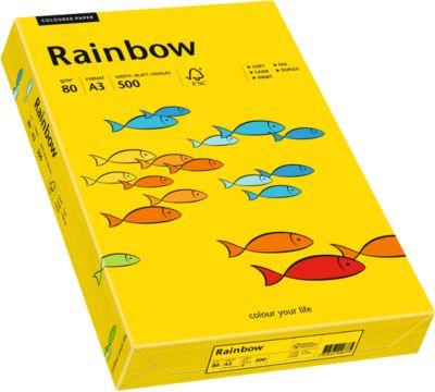 Kopieerpapier in kleur Mondi Rainbow, DIN A3, 80 g/m², intensief geel, 1 verpakking = 500 vellen