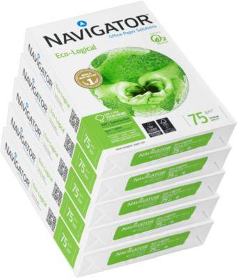 Kopieerpapier Navigator Eco-Logical, DIN A4, 75 g/m², hoog wit, 1 doosje = 5 x 500 vellen