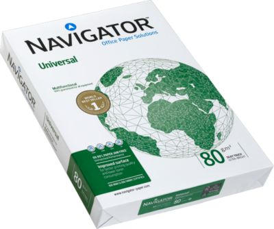 Kopieerpapier Navigator Universal, DIN A3, 80 g/m², hoog wit, 1 verpakking = 500 vellen