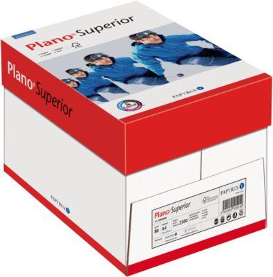 Kopieerpapier Papyrus Plano® Superior, DIN A4, 80 g/m², helder wit, 1 doosje = 5 x 500 vellen