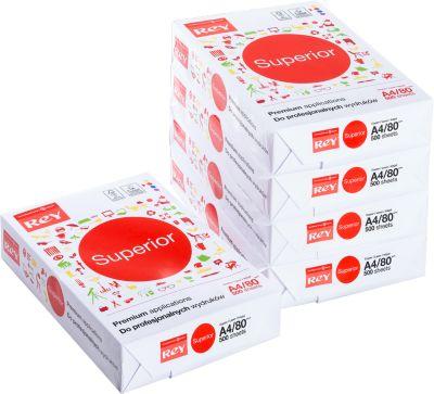 Kopieerpapier REY Superior, DIN A4, 80 g/m², 1 doosje = 10 x 500 vellen