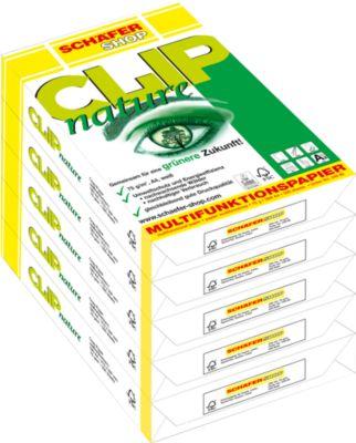 Kopieerpapier Schäfer Shop CLIP natuur, DIN A4, 75 g/m², zuiver wit, 1 doosje = 5 x 500 vellen
