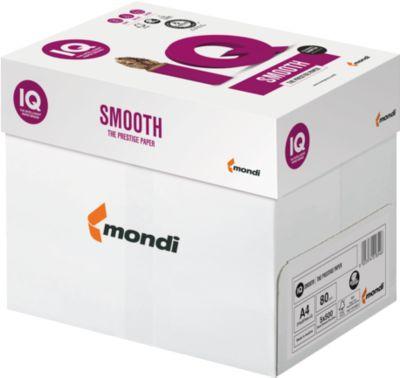 Kopieerpapier Schäfer Shop IQ Glad, DIN A4, 80 g/m², hoog wit, 1 doos = 5 x 500 vellen