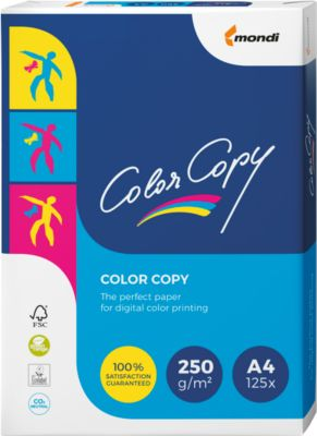Kopierpapier Mondi Color Copy, DIN A4, 250 g/m², reinweiß, 1 Paket = 125 Blatt